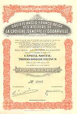 Ateliers Anglo-Franco-Belge de La Croyere, Seneffe et Godarville, accion, 1947