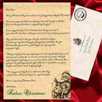 Personalised Letter from Father Christmas Santa Claus with envelope and stamp