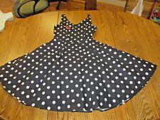 Rockabilly dress XS-S pin-up 1950's cherries black polka dot crinoline GOTH