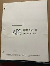 Original Service Manual for the ADS Power Plate 100 Amplifier Amp