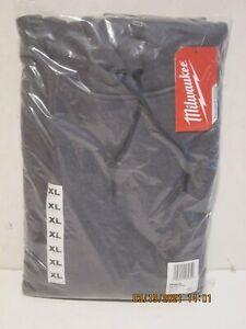 Milwaukee 350G-XL MEN'S Gray Heavy Duty Long-Sleeve Pullover Hoodie NEW-NISP FS