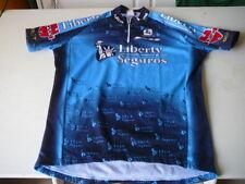 maillot de vélo Liberty Seguros Giordana bleu L