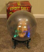 "Vintage Large Size 14"" Gemmy Witch Spirit Ball Lights Sound Motion Halloween ORB"
