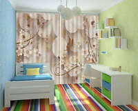 Classical Flower Butterfly 3D Curtain Blockout Photo Print Curtains Drape Fabric