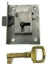 A/&E Squire England Half Mortise Chest Lock Key Brass Steel trunk cabinet desk