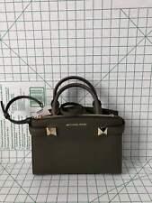 NWT Michael Kors Karla Small Saffiano Leather Satchel Purse Olive