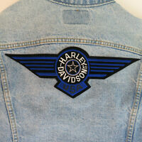 Vintage Levis Women's Large Jean Jacket w/ Harley Davidson Patch - USA Made