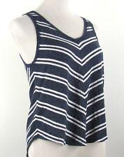 Hollister Women's Tank Top Blue White V-Neck V-Back Shirt Size S Small