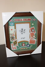 "4""x6"" Poker Champ Game Table Collectible Picture Frame- Brand New"