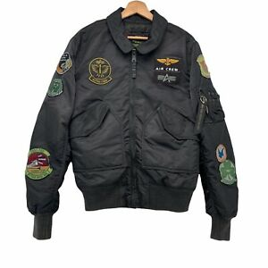 Alpha Industries 50th Anniversary Flight Bomber Jacket Size Mens S Patches