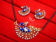 MS711 Daphne Zircon Peacock Meenakari Mangalsutra for Women, Gift for Wife