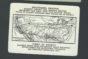Playing Swap Cards 1 OLD U.S. WIDE INFO CARD  'SOUTHERN PACIFIC RAILROAD ' MAP