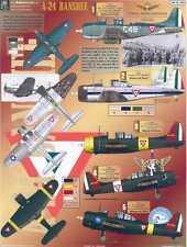 Aztec Decals 1/72 DOUGLAS A-24 BANSHEE Latin America Air Forces