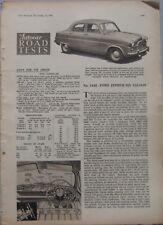 1951 Ford Zephyr Six Saloon Original Autocar magazine Road test