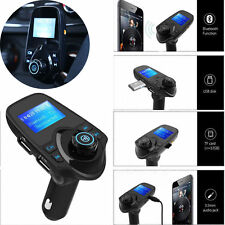 Bluetooth Wireless FM Transmitter Car Kit Radio Adapter 2 USB Port For iPhone 7