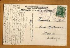 Postkarte Kaiserliche Marine Schiffspost Stempel 53 von 1913 aus Skargens