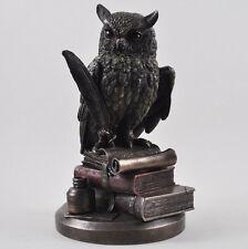Statua in Bronzo Gufo Ornamento Stile Vintage Steampunk Harry Potter Office 31080