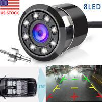170° CMOS Car Rear View Backup Camera Reverse 8 LED  Night Vision Waterproof US