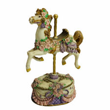 San Francisco Music Box Co Carousel Horse Plays Instrumental Wind Up 6�