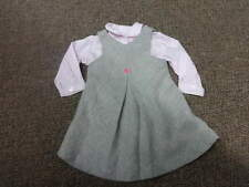 JACADI 18M 81 GRAY  WOOL DRESS AND PINK SHIRT