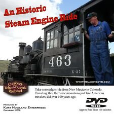 Historic Steam Engine Train Ride of the Old West, Take a Virtual Trip & Relax.