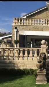 Stone balustrade, spindles
