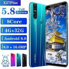 X27 Plus Unlocked Smart Phone 5.7'' Android 8.0 HD Dual SIM Mobile Phone New