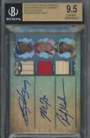⭐BGS 9.5⭐2013 Topps Triple Threads Mike Trout Bo Jackson Rickey Henderson Auto