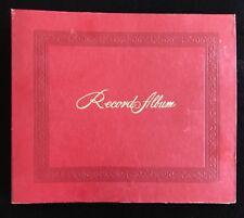 "78 record book holder Red 12"" x 10"" (10) 10"" record holder storage album"