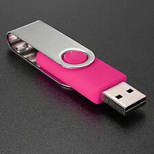 64GB Swivel USB 2.0 Flash Memory Stick Pen Drive Storage Thumb U Disk Pink