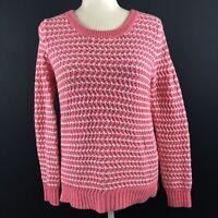 Gap Women's Size Small Pink Striped Chunky Sweater