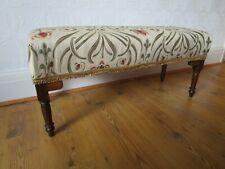 Vintage Long Upholstered Stool
