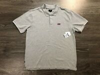 Obey Men's Mango Short Sleeve Polo Shirt Heather Grey Mens XL Brand New