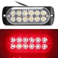 Auto Motorrad 12 LED Blitzlicht Warnleuchte Seitenlampe 12-24 V 36 rot
