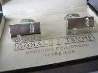 Donald Trump Signature Collection Two-Tone Rectangular Cufflinks with CZ Accents