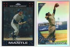 2007 & 2010 Topps Chrome Mickey Mantle Refractor (New York Yankees) Lot SALE