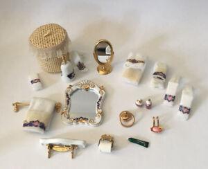 Dolls House Reutter Bathroom Accessories