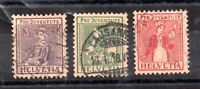 Switzerland 1917 Pro Juventute fine used set J6-8 Cat Val £90 WS15667