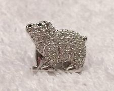 Swarovski SCS Silver Crystal 2012 Event Polar Bear Pin Tie Tack Brooch 1062850