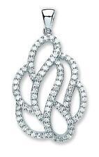 """Sterling Silver Fancy Clear Cubic Zirconia Pendant,18"""",CZ,SPD00165"""