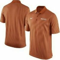 New Texas Longhorns Nike Dri-Fit stadium polo golf shirt striped men's 2XL $65