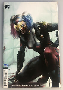 HEROES IN CRISIS #1 COLOR 1:200  HARLEY QUINN VIRGIN VARIANT COVER BY MATTINA