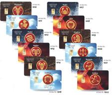 0,5g Gold STERNZEICHEN Geschenk-und Designkarten *zertifiziert* *999,9*