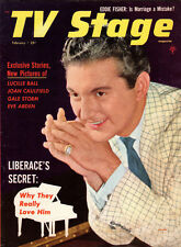 TV STAGE Magazine-February 1955-LIBERACE,LUCY,DESI,Miss America,Dragnet