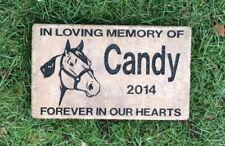 Horse Memory Stone, Pet Memorial Stone, In Memory Of, Personalized Memorial
