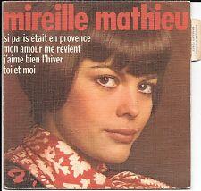 EP 4 TITRES--MIREILLE MATHIEU--MON AMOUR ME REVIENT (POCHETTE GRANULEE)