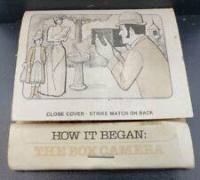 How It Began: The Box Camera Matchbook