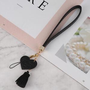 New Love Heart Tassel Hand Wrist Lanyard Phone Straps String Keycha WHS AG
