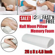 Memory Foam Pillow Half Moon Knee Neck Roll Pillow Leg Support Back Pain Relief