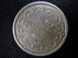 ISLAMIC ARABIC OTTOMAN EMPIRE TURKEY CONSTANTINOPLE 1255/7 5 KURUSH SILVER COIN